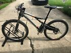 Cannondale Rush Lefty Size medium. Color Silver/Black Avid Juicy 7 brakes.