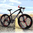24 speed steel Double Disc Brake 3 Spokes Wheel Mountain Bike,26''
