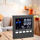 LCD Digital Indoor Weather Forecast Temperature Humidity Monitor Alarm Clock KG