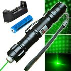 50Mile Belt Clip Green Laser Pointer Pen 5mw 532nm Powerful Beam+Battery+Charger