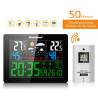 EU Digital Wireless Weather Station Forecast Temperature Humidity Calendar Meter