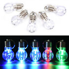 5x LED Flashlight Bulb Key Ring Keychain Light Torch bag Women Key Holder