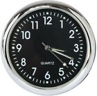 Classic Car Dashboard Analog Quartz Black Round Clock Time Display Table Mini