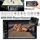 """6.2"""" 2Din Car Stereo Radio TouchScreen Bluetooth DVD FM Player for Apple+CAMERA"""