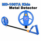 MD-1007A Kids Beginners Metal Detector Gold Coins Digger Treasure Hunter Blue
