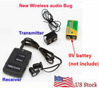 Wireless transmitter receiver Covert FM voice Audio Listening Device Ear spy bug