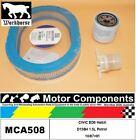 FILTER SERVICE KIT for Honda CIVIC ED6 Hatch D15B4 1.5L Petrol 10/87>91