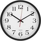 Large Decorative Wall Clock - Universal Non - Ticking & Silent 12-Inch Wall Cloc