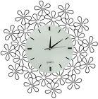 Lulu Decor, Daisy Lines Decorative Metal Wall Clock, Size 23.50 (Lines)