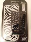 NEW - Texas Instruments Faceplate and Side Holster for TI-84 Plus SE Zebra Print