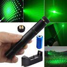 Star Pattern Green Laser Pointer Pen 5mw 532nm Powerful Beam Light+Batt+Charger