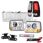 99-02 Silverado LTZ Tail Brake Lamps Billet Style Grille Roof Cab Lamp Foglamps