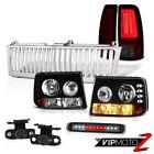 99-02 Silverado LS Rear Brake Lights Vertical Grille Roof Cab Light Foglamps LED