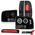 L.E.D DRL Headlights High Stop LED Red Smoke Tail Lights 1999-2004 Ford F350