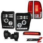 11-16 F350 6.2L Roof Cargo Lamp Phantom Smoke Fog Lamps Taillights Headlights