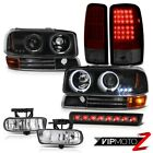 Angel Eye Headlight Signal LED Tail Lights FogLamp Tinted Roof Brake 00-06 Yukon