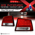 [Cree LED Reverse] Dodge Charger 09-10 Red/Clear LED Brake Signal Tail Light L+R