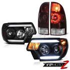 12-15 Toyota Tacoma 4WD Black projector headlights rear brake lights Tron Tube