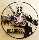 Deadpool vinyl record clock