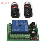 Wireless Relay Set 433mhz Remote Receiver + Code With Control Switch Rf 24v 4ch