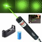 Military 10 Miles 532nm Green Laser Pointer Pen Visible Beam Star Cap High Power