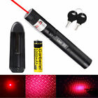 10Miles 650nm 303 Red Lazer Pointer Pen Visible Beam Light +Battery+Charger