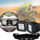 """3x3"""" LED Cube Pods Lamp for 2014 2015 2016 Can-Am + Light Bracket TURBO 1000R"""