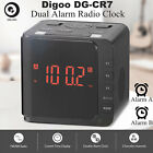 Digoo LED Large Display Digital USB Dual Snooze Alarm Clock AM FM Speaker Radio