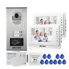 "Apartment 7"" Video Door Phone Intercom System 2 Monitors RFID Access Door Camera"