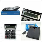 DURABLE 2 Way Power Counter Office Calculators Solar Power Battery Operated NEW