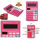 IMPORTED Bright Pink Calculator Extra Large LCD 12 Digit Display 2 Way Power NEW