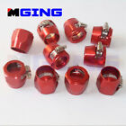 10 x -6 AN6 AN-6  Fuel Hose Line Clamp Finisher Adapter Adaptor Red
