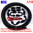AN8 -8 AN8 Stainless Steel Nylon Braided Oil Fuel Line Hose End Wrench Tools 3M