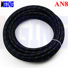 AN8 -8AN AN-8 Oil Fuel Line Hose 1500PSI Nylon Stainless Steel Braided 1 Foot