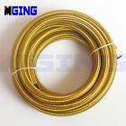 AN8 8-AN AN 8 Stainless Steel Braided Fuel Line Hose Oil Gas 1M 3FT Gold