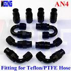 AN4 4AN AN -4 hose End fitting Kit For PTFE Teflon e85 oil fuel line Adapter 10P