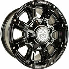 18x9 Gloss Black Defender 6x135 & 6x5.5 -12 Rims Open Country A/T II 35 Tires