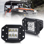2Pcs 4'' Flush Mount Front Rear Bumper LED Light Bar Polaris Ranger 570/900/1000