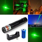 Powerful Green Laser Pen Pointer 5mw 532nm Visible Beam Cat Toy+Battery+Charger