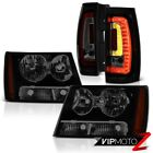 07-11 12 13 14 Chevy Suburban Smoke Tinted Head Lights Led Tail L+R Replacement