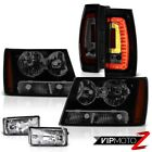 07 08 09-14 Suburban Tahoe Smoke Tinted Head Lights Led Tail Fog L+R Replacement