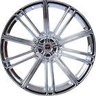 4 GWG Wheels 22 inch Chrome FLOW 22x10.5 Rims fits CHRYSLER 300 AWD 2005 - 2018