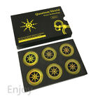 6x Cell Phone And Electronics Quantum Shield Sticker For Smartphone Silver Gold