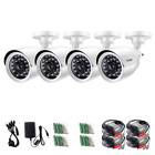 Wireless 720P HDTVI Security Camera System 4 x 720P Outdoor w/Day & Night Vision