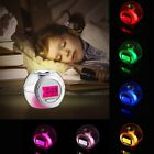 Wake Up Light Clock For Kids Child Toddler Adults 7 Colors Changing Alarm Clock
