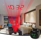 Alarm Clock Multifunction Digital Voice Talking LED Projection Temperature FastU