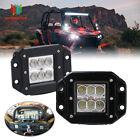 """2PCS 3""""LED FLUSH MOUNT LIGHT GRILL for 1993-2016 Polaris Ranger RZR 4 400 XP 900"""