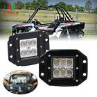 """2PCS 3""""LED FLUSH MOUNT LIGHT  REVERSE BACKUP GRILL  For POLARIS RZR 900&1000 XP"""