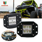 "2PCS 3""LED FLUSH MOUNT LIGHT REVERSE BACKUP for  Polaris Ranger RZR 4 800 H11"