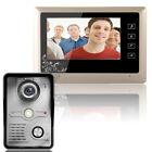 """7"""" Video Door Phone Doorbell Intercom System Kit 1-Camera 1-Monitor Night Vision"""